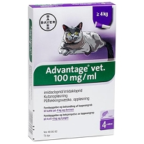 Advantage Vet til katte - 0,8 ml - Over 4 kg