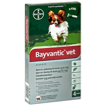 Bayvantic Vet. Hund under 4 kg. 4x0,4 ml.