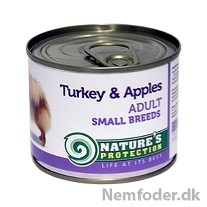 6 x 200 gr. Adult Small Breeds Turkey & Apples