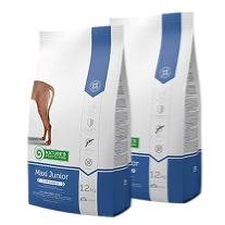 2 x Natures Protection Maxi Junior 12 kg.