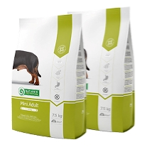 2 x Natures Protection Mini Adult 7,5 kg.