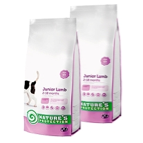 2 x Natures Protection Junior Lamb 7,5 kg