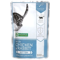 10 x 100g. Kitten Chicken and Rabbit - Healthy Growth
