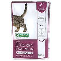10 x 100g. Chicken & Salmon - Skin and Coat Care